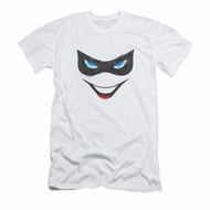 Harley Quinn Shirt Slim Fit Mask White T-Shirt