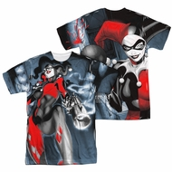 Harley Quinn Shirt Smokin Sublimation Shirt Front/Back Print