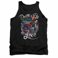 Harley Quinn Shirt Tank Top Death By Love Black Tanktop