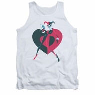 Harley Quinn Shirt Tank Top Heart White Tanktop