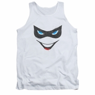 Harley Quinn Shirt Tank Top Mask White Tanktop