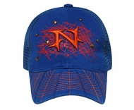 Hat with Mesh Back Lackpard 3D N with Silver Studs Royal Blue Cap