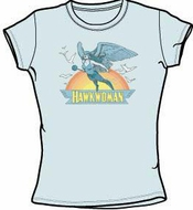 Hawkwoman T-shirt - DC Comics Light Blue Tee