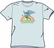 Hawkwoman T-shirt - Hawk woman Adult Light Blue Tee