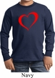 Heart Outline Kids Long Sleeve Shirt
