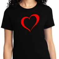 Heart Outline Ladies Shirt