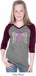 Heaven Can Wait Girls Three Quarter Sleeve V-Neck Raglan Shirt