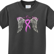 Heaven Can Wait Kids Breast Cancer Awareness Shirts