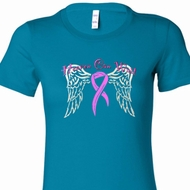 Heaven Can Wait Ladies Breast Cancer Awareness Shirts