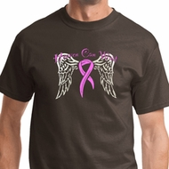 Heaven Can Wait Mens Breast Cancer Awareness Shirts
