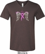 Heaven Can Wait Mens Tri Blend V-neck Shirt