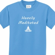 Heavily Meditated Kids Yoga Shirts