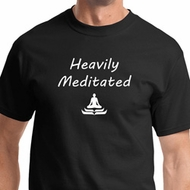Heavily Meditated Mens Yoga Shirts