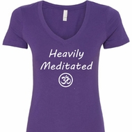 Heavily Meditated with OM Ladies Shirts