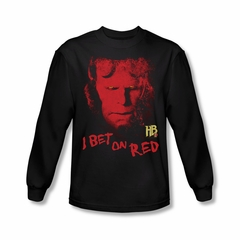 Hellboy II The Golden Army Shirt I Bet On Red Long Sleeve Black Tee T-Shirt