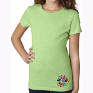 Hippie Sun Patch Bottom Print Kids Yoga Shirts