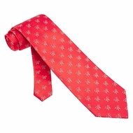 Holiday Candy Canes Micro Tie Red Necktie � Mens Holiday Neck Tie