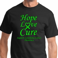 Hope Love Cure Lymphoma Cancer Awareness Shirts