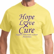 Hope Love Cure Pancreatic Cancer Mens Shirts