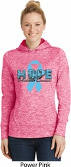 Hope Prostate Cancer Ladies Moisture Wicking Hoodie