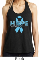Hope Prostate Cancer Ladies Shimmer Loop Back Tank Top