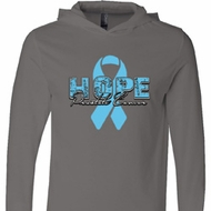 Hope Prostate Cancer Lightweight Hoodie Tee