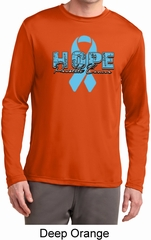 Hope Prostate Cancer Mens Dry Wicking Long Sleeve Shirt