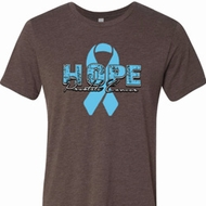 Hope Prostate Cancer Mens Tri Blend Crewneck Shirt