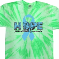Hope Prostate Cancer Twist Tie Dye Shirt