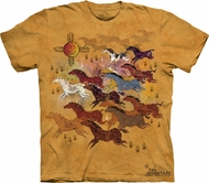 Horse Shirt Tie Dye Horses and Sun T-shirt Adult Tee
