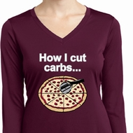 How I Cut Carbs Ladies Dry Wicking Long Sleeve Shirt