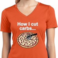 How I Cut Carbs Ladies Moisture Wicking V-neck Shirt