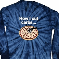 How I Cut Carbs Long Sleeve Tie Dye Shirt