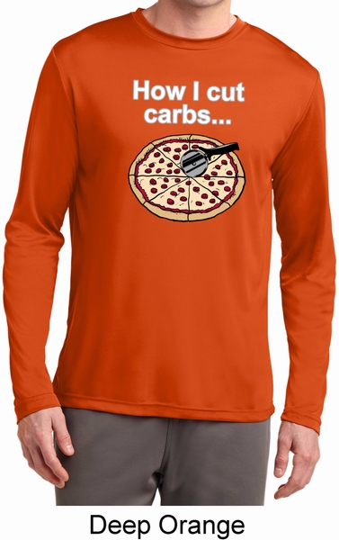 How I Cut Carbs Mens Dry Wicking Long Sleeve Shirt How