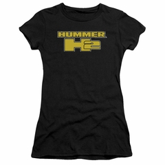 Hummer Juniors Shirt H2 Block Logo Black T-Shirt