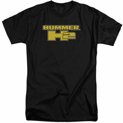Hummer Shirt H2 Block Logo Black Tall T-Shirt