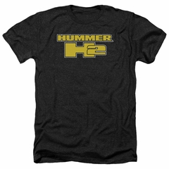 Hummer Shirt H2 Block Logo Heather Black T-Shirt