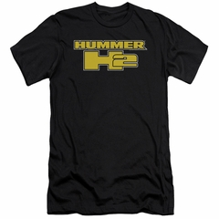 Hummer Slim Fit Shirt H2 Block Logo Black T-Shirt