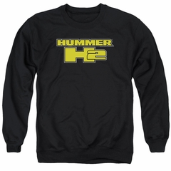 Hummer Sweatshirt H2 Block Logo Adult Black Sweat Shirt