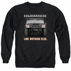 Hummer Sweatshirt Like Nothing Else Adult Black Sweat Shirt
