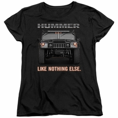 Hummer Womens Shirt Like Nothing Else Black T-Shirt