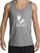 I Do My Own Stunts Tank Crashing Falling Sports Grey Tank White Print