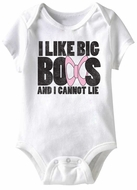 I Like Big Boobs Funny Baby Romper White Infant Babies Creeper
