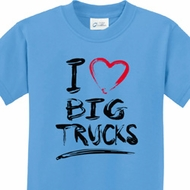 I Love Big Trucks Kids Shirts