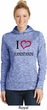 I Love Handstands Ladies Royal Electric Moisture Wicking Hoodie