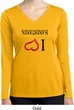 I Love Handstands Upside Down Ladies Dry Wicking Long Sleeve Shirt