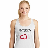 I Love Handstands Upside Down Ladies Dry Wicking Racerback Tank Top