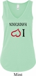 I Love Handstands Upside Down Ladies Flowy V-neck Tanktop