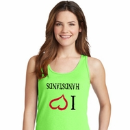 I Love Handstands Upside Down Ladies Tank Top