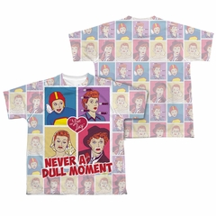 I Love Lucy All Over Panels Sublimation Kids Shirt Front/Back Print